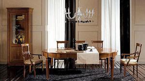 Tavolo classico Dall'Agnese: tavolo rotondo in stile