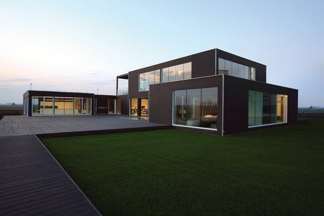 Ecocasa in 90 giorni: vista della casa prefabbricata Planit