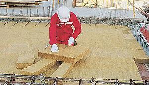 Materiali isolanti: Rockwool Pannello isolante rigido in lana di roccia ROCKWOOL ROCKFEU COFFRAGE