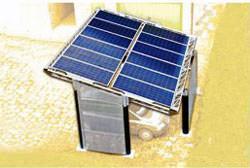 Fotovoltaico a concentrazione: Pensilina fotovoltaica Beghelli