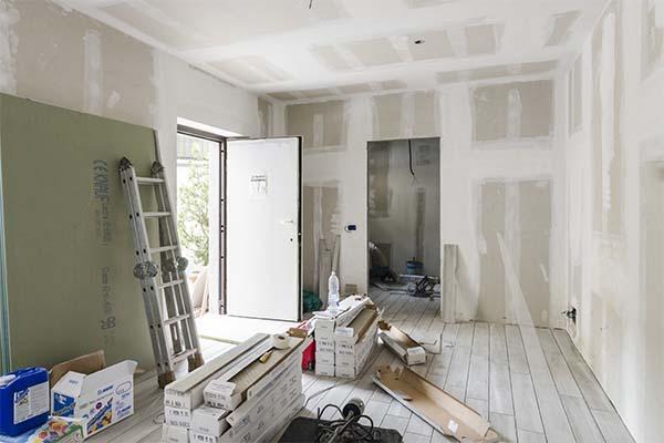 Appartamento in fase di ristrutturazione. Lavori eseguiti dall'azienda Novatect