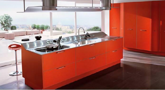 Progetto Cucina: esempio di cucina a isola marca Snaidero
