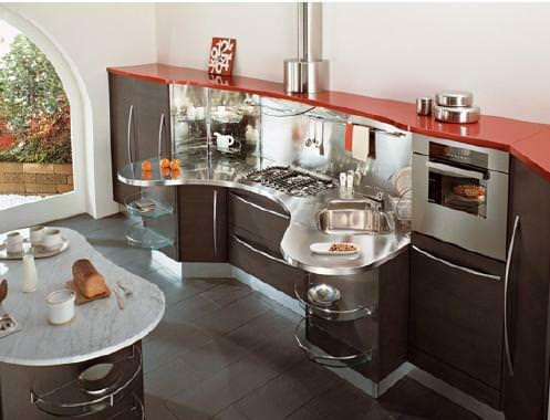 Progettare la cucina: esempio di cucina Snaidero