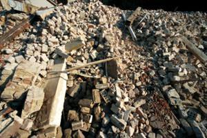 Macerie di un terremoto