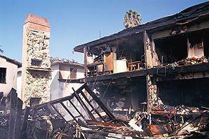 Edificio parzialmente crollato