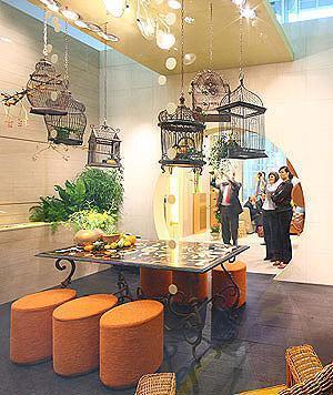Ambientazione Novoceram di Florilege al Cersaie 2008