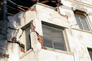 Effetti del terremoto su un edificio