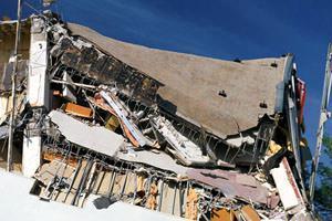 Edificio collassato