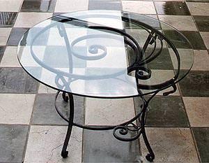 Ungaro Ferro Battuto: tavolino da salotto con vetro