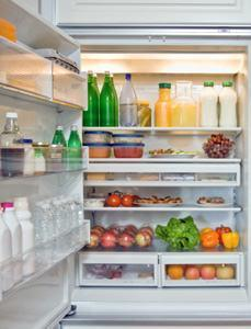 Interno di frigorifero