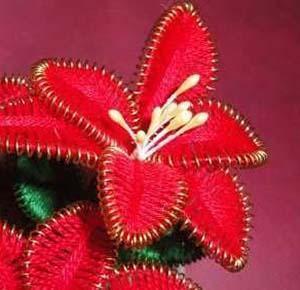 fiore in filo mouliné
