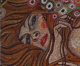 Mosaico di arte-mosaico; riproduzione Gustav Klimt