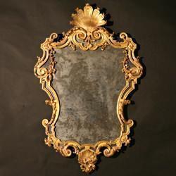 Trionfante Antichità: Specchiera intagliata e dorata