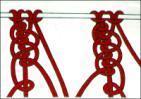 macramè catena a tre fili