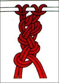 macramè catena doppia