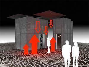 L' installazione Next Floor di Diego Grandi per Sele