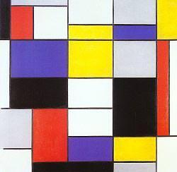 Piet Mondrian - Composition A: Composition with Black, Red, Gray, Yellow, and Blue