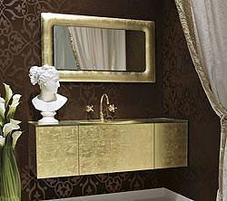 Per sempre Vanity bagno Gold