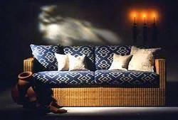 Longhi Rattan: divano letto in midollino