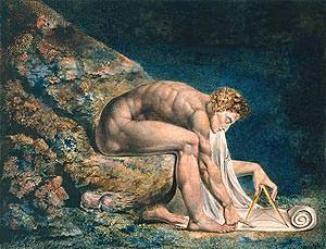 William Blake, Newton, 1795-1805, Londra Tate Britain.