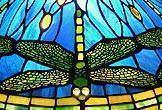 Particolare dragonfly lampada Tiffany