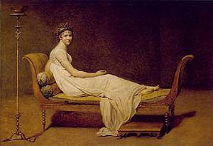 Madame Recamier. J.L David
