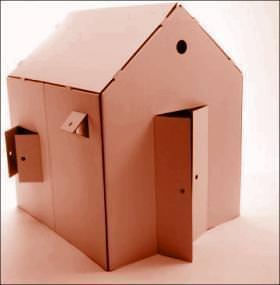 casa in cartone
