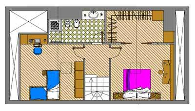 Il duplex for Piccoli piani di casa di un livello