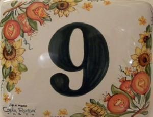 Numeri civici cotto piastrelle numero civico in cotto pitturato a