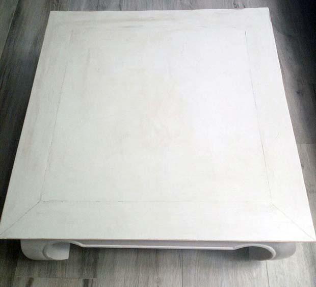 Tavolino restaurato shabby: particolare. Progetto di Giuseppe Panico