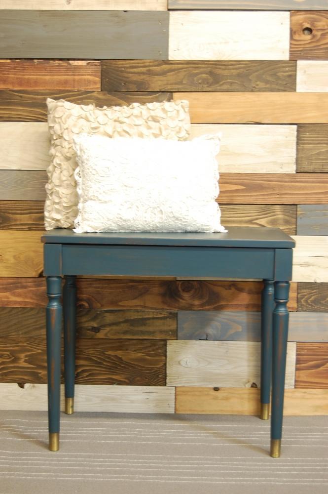 Tavolino basso verde londra, usurato Shabby
