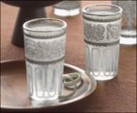 Bicchieri decorati con acidatura