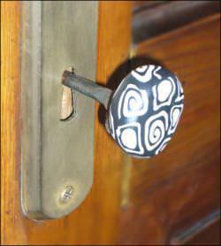 chiave decorata con murrine