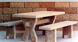 Tavolo e panche Guardini Pietre