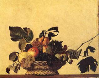 Caravaggio: Cesto di Frutta