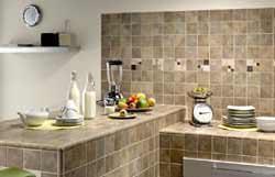 Proprietà familiare: Mattonelle 10x10 per cucine in muratura