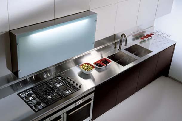 Piani cucina - Piano cucina acciaio ...