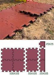 Pavimentazioni drenanti in gomma