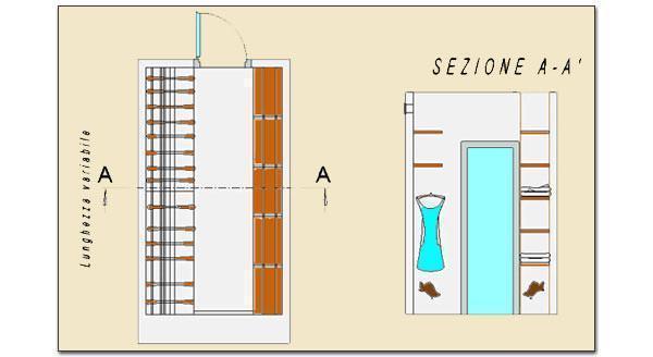 Cabina armadio pratica e funzionale - Misure cabina armadio ...