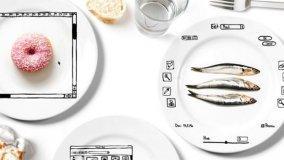Set di piatti in ceramica dall'animo grafico