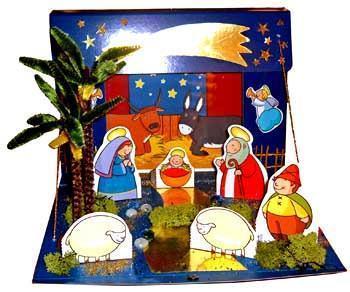 Presepe con sagome colorate (fonte:www.filastrocche.it)