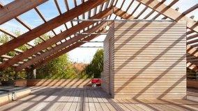 Casa parigina ecosostenibile in legno