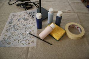 materiali per decorare il paralume