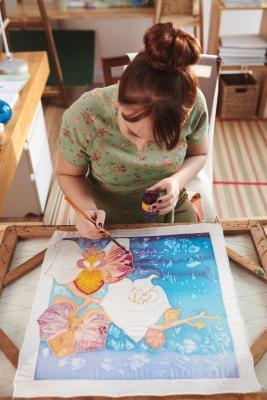 Dipinto realizzato con la tecnica batik