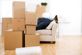 Imballaggio scatoli del trasloco