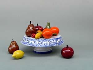 alzata con frutta Mazzotti