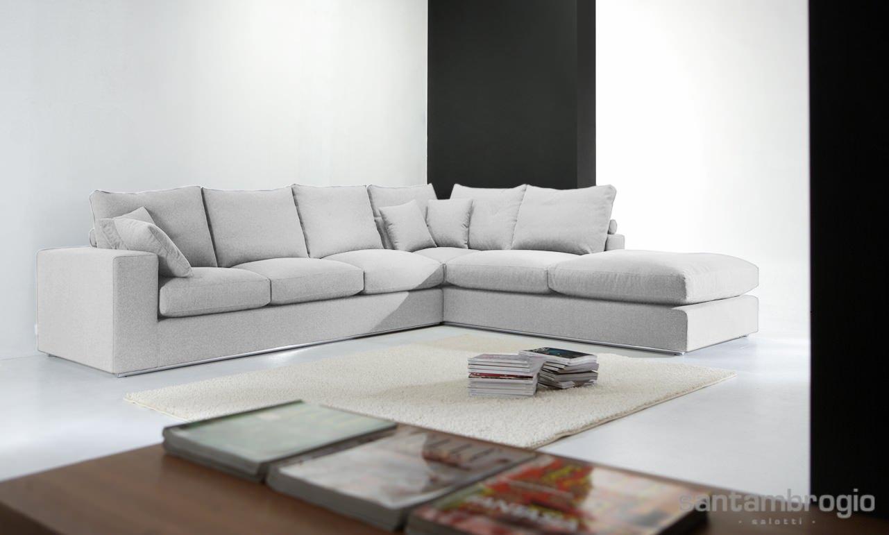 Foto divani angolari - Divano angolare bianco ...