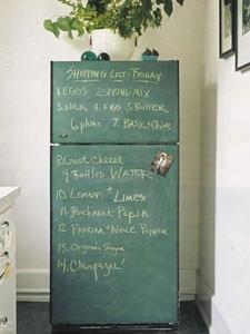frigorifero effetto lavagna in cucina faidate @ aparthment therapy2
