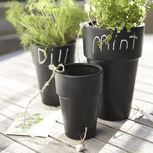 vasi faidate effetto lavagna per aromatiche @aparthment therapy
