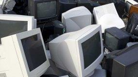Piastrelle dai vecchi televisori